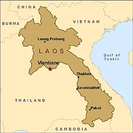 landlocked South East Asia